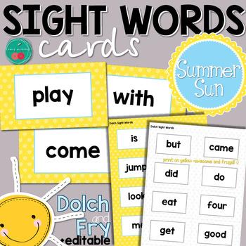 Summer Sight Words