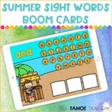 Summer Sight Words Boom Cards | Digital Reading Centers