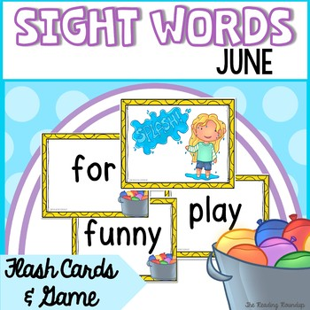 Summer Sight Words Game and Flash Cards (June)