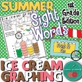 Summer Sight Words {Ice cream graphing} First Grade Editio