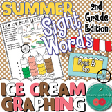 Summer Sight Words {Ice cream graphing} Second Grade Edition {Print & Go}