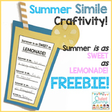 Summer Simile Craftivity - Summer is as Sweet as Lemonade