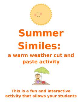 Summer Similes: a fun figurative language cut & paste warm