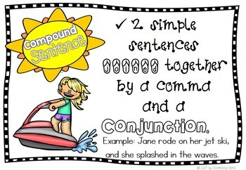 Summer Simple and Compound Sentences Sort
