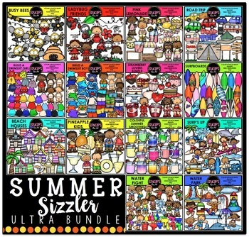 Summer Sizzler Clip Art Ultra Bundle {Educlips Clipart}