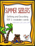 Summer Sizzlers #1: Define and Describe TIER 1 Vocabulary