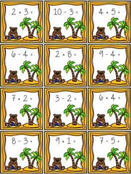 Summer Sizzlers: Addition and Subtraction to 10