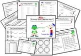 Summer Skills Math Review Packet (Half-page)