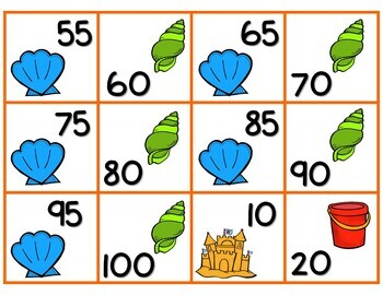 Summer Skip Counting 2's 5's & 10's