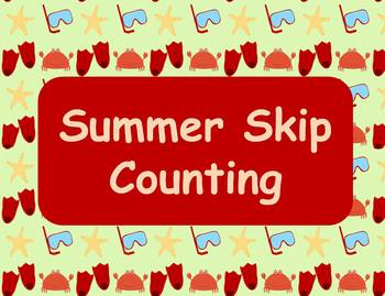 Summer Skip Counting Math Center