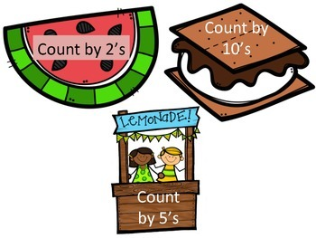 Summer Skip Counting Math Center (2's, 5's & 10's)