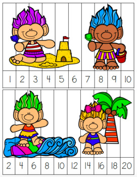 summer skip counting number puzzles and worksheets by sarah eisenhuth. Black Bedroom Furniture Sets. Home Design Ideas