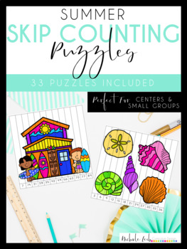Summer Skip Counting Puzzles by Nichole L.