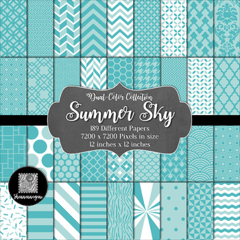 12x12 Digital Paper - Dual-Color Collection: Summer Sky