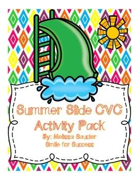 Summer Slide CVC Fun! {Cut & Paste Worksheets}