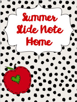 Summer Slide Note Home
