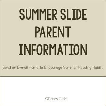 Summer Slide Parent Information Sheet
