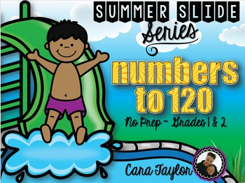 Summer Slide Series ~ Numbers to 120 No Prep Printables for Young Learners