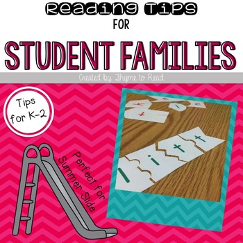 Back to School Reading Tips for Families (FREEBIE)