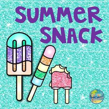 Summer Snack File Folder Game