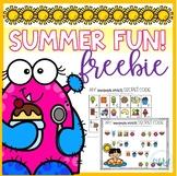 Summer Snack Secret Code  **NO PREP FREEBIE**