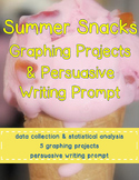 Summer Snacks Graphing Projects & Writing Prompt