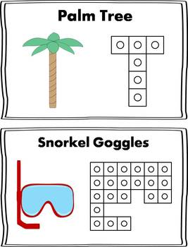 Summer  Snap Cube Activity {FREEBIE}