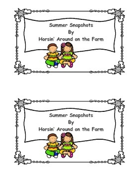 Summer Snapshots - Comprehension Worksheet Included