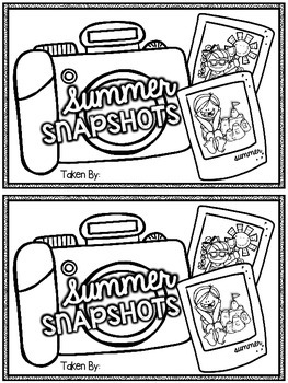 Summer Snapshots Mini-Book {Back to School Summer Reflection Activity}