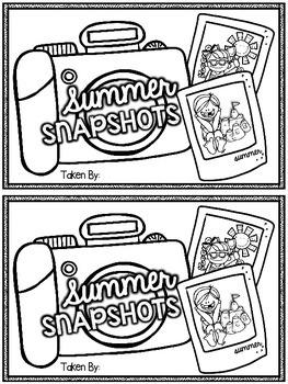 Summer Snapshots Mini-Book {Back to School Summer Reflecti