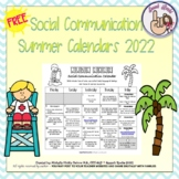 Summer Social Communication Calendars 2020 {FREEBIE}