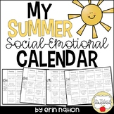 Summer Social-Emotional Calendar