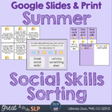 Summer Social Skills Sorting for Middle School & Upper Elem.