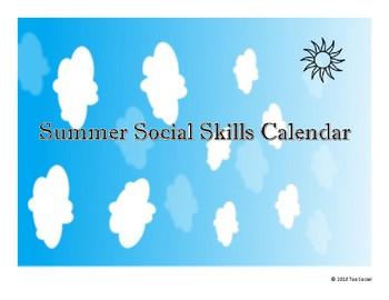 Summer Social Skills including an At Home Tool Kit
