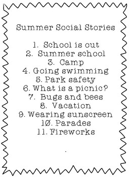 Summer Social Stories Bundle