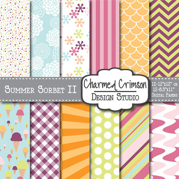 Summer Sorbet Digital Paper 1008