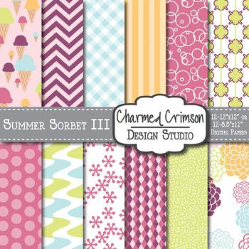 Summer Sorbet Digital Paper 1009
