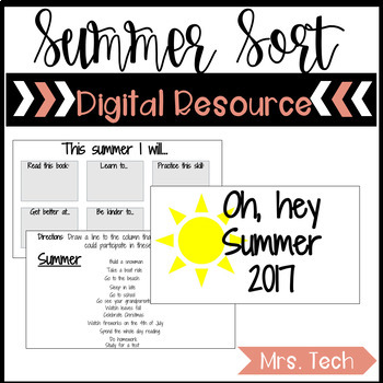Summer Sort - Digital Resource