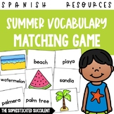 Summer Spanish Vocabulary Matching Card Game