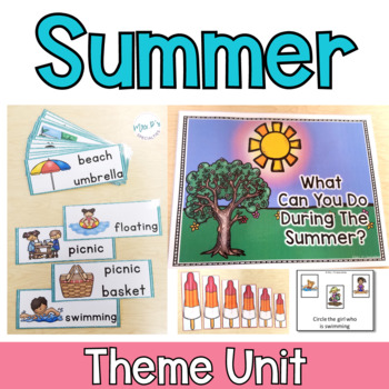 summer theme unit for special education and esy programs by mrs ps
