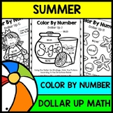 Summer - Special Education - Color By Number - Dollar Up - Math - Money