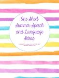 Summer Speech Activity Sheet