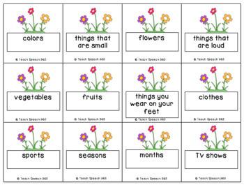 Summer Speech Freebie: Gardening