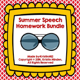 Summer Speech Homework Bundle