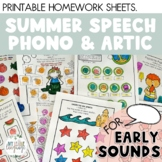 SUMMER SPEECH: Summer Break Speech Packet