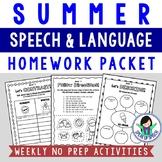 Summer Speech & Language Homework Packet