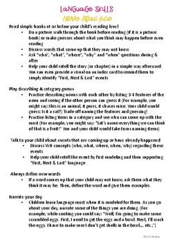 Summer Speech & Language Packet