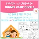Summer Speech & Language Packet    NO PREP BUNDLE   Summer
