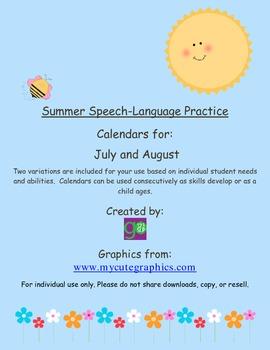 Summer Speech-Language Practice