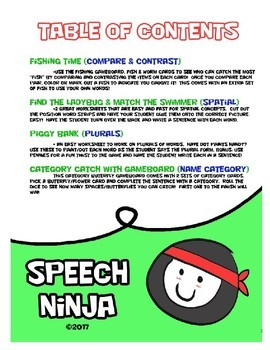 Summer Speech & Language Worksheets - No Prep